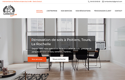 Site internet Lombarde Poitiers